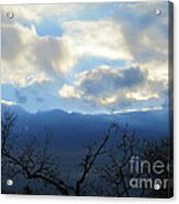 Blue Wall Clouds 4 Acrylic Print