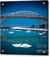 Blue Water Bridge Reflection Acrylic Print