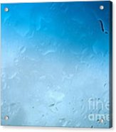 Blue Water Droplets Acrylic Print