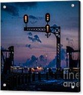 Blue Water River Walk At Dusk Acrylic Print