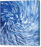 Blue Water Twister Abstract Acrylic Print