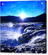 Blue Waterfall Acrylic Print
