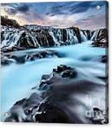 Blue Waterfalls Acrylic Print