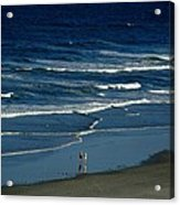 Blue Wave Walking Acrylic Print