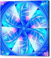 Blue Wheel Inflamed Abstract Acrylic Print