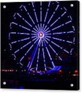Blue Wheel Of Fortune Acrylic Print