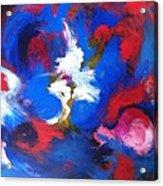 Blue Whirl Acrylic Print