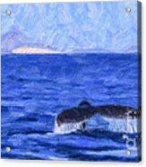 Blue Wilderness Acrylic Print