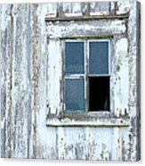 Blue Window In Weathered Wall Acrylic Print