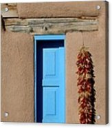 Blue Window Of Taos Acrylic Print by Heidi Hermes