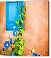 Blue Window - Painted Acrylic Print