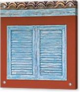 Blue Window Shutter Of Aruba Acrylic Print