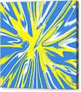 Blue Yellow White Swirl Acrylic Print