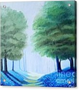 Bluebells Acrylic Print by Carola Ann-Margret Forsberg