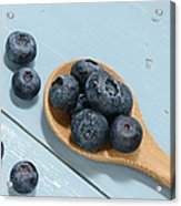 Blueberries On A Spoon Acrylic Print