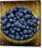 Blueberry Elegance Acrylic Print by Andee Design