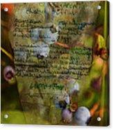 Blueberry Muffins Acrylic Print