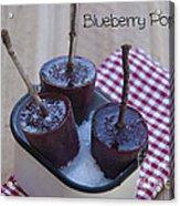 Blueberry Popsicles Acrylic Print