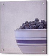 Blueberry Splash Acrylic Print