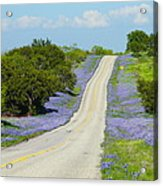 Bluebonnet Highway 2am-28667 Acrylic Print