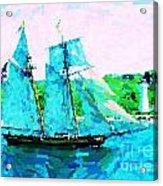 Bluenose Schooner In Halifax Acrylic Print
