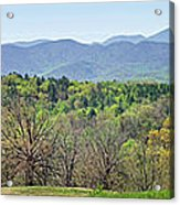 Blueridge Mountains In The Spring Acrylic Print