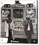 Blues Bus Acrylic Print by Patrick Kelly
