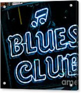 Blues Club On Bourbon Street Nola  Acrylic Print