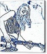 Blues In Blue Acrylic Print