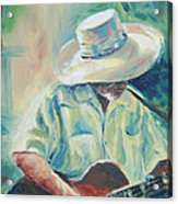 Blues Man Acrylic Print by Sharon Sorrels