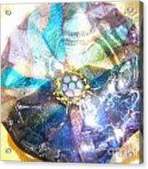 Blues Mandala Bowl Acrylic Print