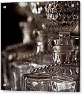 Blurred Bottles Acrylic Print by Mamie Thornbrue