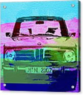 Bmw 2002 Front Watercolor 1 Acrylic Print by Naxart Studio