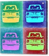 Bmw 2002 Pop Art 1 Acrylic Print by Naxart Studio