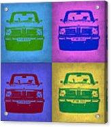 Bmw 2002 Pop Art 3 Acrylic Print by Naxart Studio