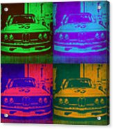 Bmw Racing Pop Art 1 Acrylic Print by Naxart Studio