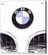 Bmw Z3 Emblem Sketch Acrylic Print