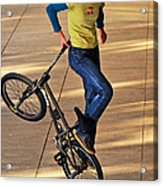 Bmx Flatland Ride - Wonderful Warm Light Acrylic Print