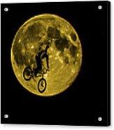 Bmx Moon Acrylic Print