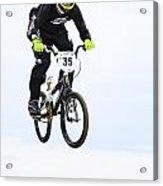 Bmx Racer Goes Airborne Acrylic Print