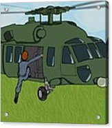 Boarding A Helicopter Acrylic Print