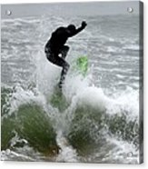Boardskimming - Into The Surf Acrylic Print