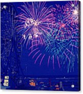 Boardwalk Fireworks Acrylic Print