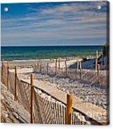 Boardwalk To Cape Cod Bay Acrylic Print
