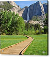 Boardwalk To Yosemite Falls  Acrylic Print