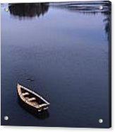 Boat And A Cross Acrylic Print by Skip Willits