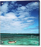 Boat And Sea Acrylic Print