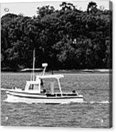 Boat And Tender At Coochiemudlo Island Acrylic Print