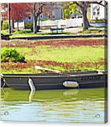 Boat At The Pond Acrylic Print
