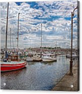 Boat - Baltimore Md - One Fine Day In Baltimore  Acrylic Print